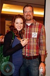 Pregnant Sarah Drew and her husband Peter Lanfer