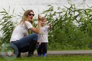 Gisele Bundchen With son Benjamin in Boston