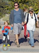 Tori Spelling and Dean McDermott with their son Liam
