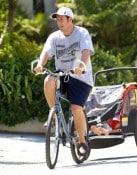 Adam Sandler out biking with his girls