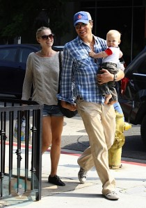 Ali Larter with Hayes and Teddy McArthur