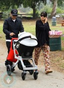 Selma Blair & Jason Bleick with baby Arthur