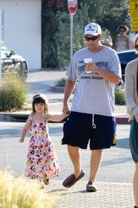 Adam Sandler with his daughter Sunny