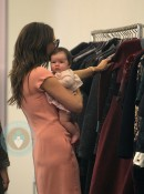 Victoria Beckham and daughter Harper in Marc Jacobs