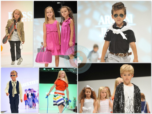 Fashion Show Collage Elements