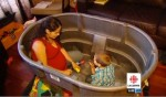 Nancy Salgueiro in homebirth bath