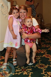 Jodie Sweetin with daughter Zoie and Beatrix