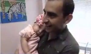 Valentina DeLeon with her dad