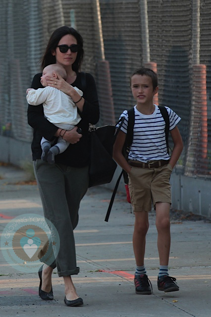 Jennifer Connelly with daughter Agnes and son Stellan