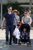 Amy Adams and Darren LeGallo with their daughter Aviana