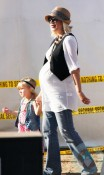 Tori Spelling and her daughter Stella At the Malibu cookoff