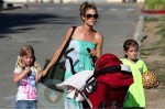 Denise Richards with daughters Lola, Sam and Eloise