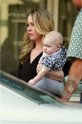 Christina Applegate and daughter Sadie on the set of Up All Night