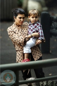 Kourtney Kardashian and son Mason Disick at the Central Park Zoo