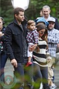 Kris Humphries and Khloe Kardashian with Mason at the Central Park Zoo