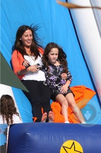 Soleil Moon Frye with daughter Poet at Mr