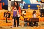 Soleil Moon Frye with daughters Poet & Jagger at Mr. Bones Pumpkin Patch