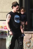 Colin Farrell with son Henry out in LA