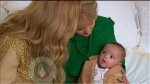 Mariah Carey and Barbara Walters with baby Moroccan Cannon