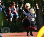 Gwen Stefani at the park with her boys Kingston and Zuma