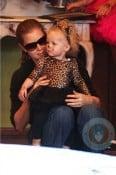 Amy Adams with daughter Aviana at Mr Bones Pumpkin Patch