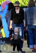 Amy Adams with daughter Aviana at Mr Bones Pumpkin Patch