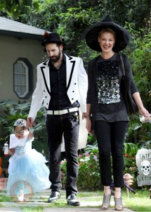 Katherine Heigl with husband Josh Kelley and daughter Naleigh