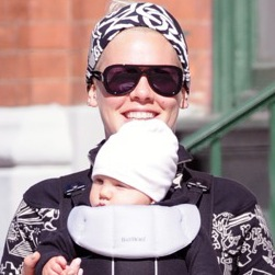 Pink & Carey Hart Step Out With Willow in NYC