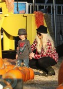 Christina Aguilera and her Max Bratman at Mr. Bones Pumpkin Patch