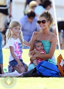 Denise Richards with daughters Lola and Eloise