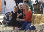 Alison Sweeney with son Ben and daughter Megan at Mr. Bones
