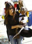 Sandra Bullock and Louis dressed as Pirates for a party