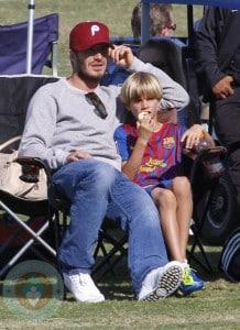 David Beckham with son Romeo