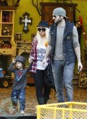 Christina Aguilera and her boyfriend Matt Rutler with son Max Bratman
