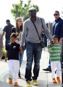 Seal Samuel with sons Henry and Johan at Mr. Bones Pumpkin Patch