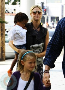 Heidi Klum with daughters Lou and Leni at Mr