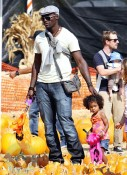 Seal Samuel with daughter Leni at Mr. Bones Pumpkin Patch