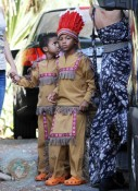 Johan and Henry Samuel dressed as Indians