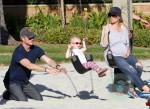 Rebecca Gayheart and Eric Dane with their daughter Billie At the park