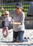 Rebecca Gayheart with his daughter Billie At the park