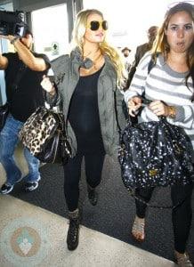 Jessica Simpson at LAX airport