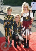 Camille Grammer with kids Jude and Mason at 18th Annual Dream Halloween LA