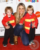 Brooke Mueller with sons Bob and Max at 18th Annual Dream Halloween LA