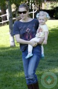 Amy Adams with daughter Aviana at Cold Water Park
