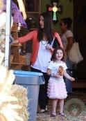 Soleil Moon Frye with daughter Jagger at Mr. Bones Pumpkin Patch
