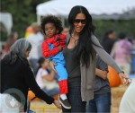 Kimora Lee Simmons with son Kenzo at Mr Bones