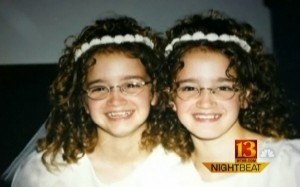 Jessica and Jennifer Patterson as kids