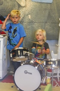 Kingston and Zuma rocking out in LA