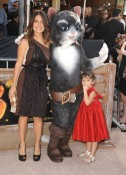 Salma Hayek and daughter Valentina at Puss In Boots Premiere