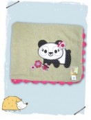 Twirls and Twigs panda blanket
